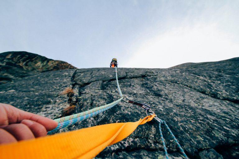 Mountain Climber Looking UP